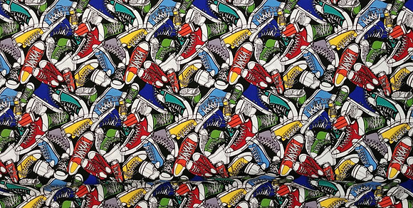 Sneakers fabric by the yard