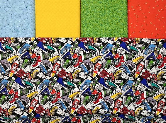 Sneakers fabric bundle