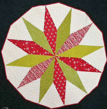 Starburst ready-made table topper or tree skirt