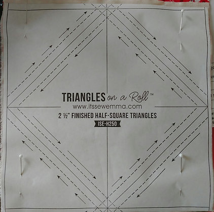 """2 1/2"""" Triangles on a Roll"""