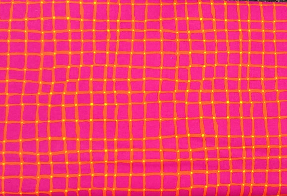 Point of Hue Pink/Orange Geo from Blank Textiles