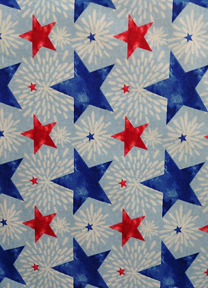 One Land, One Flag Stars fabric by the yard