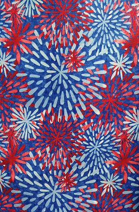 One Land, One Flag Fireworks fabric by the yard