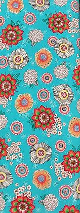 Mika aqua/multi floral from Quilting Treasures