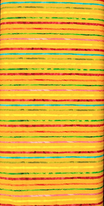 Chili Smiles yellow stripe fabric by the yard