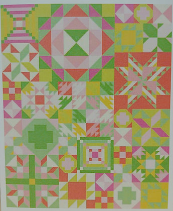 My Favorite Color is Moda Block of the Month - Primrose Garden