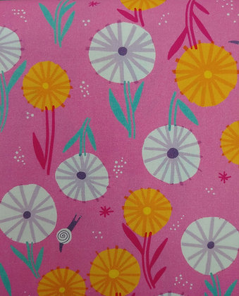 Escargot For It pink  fabric by the yard