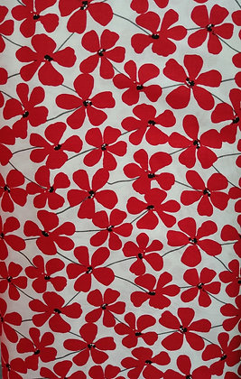 Red Alert Red Petals fabric by the yard