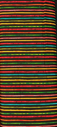Chili Smiles black stripe fabric by the yard