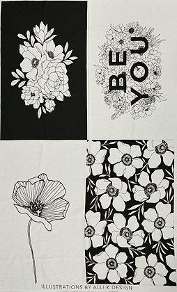 Illustrations fabric panel