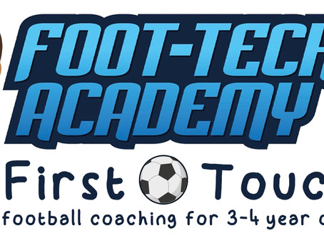 Foot-Tech First Touch - Intro Sessions for 3-4 Year Olds