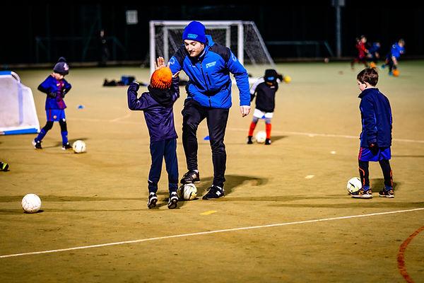 Childrens football training in Leeds