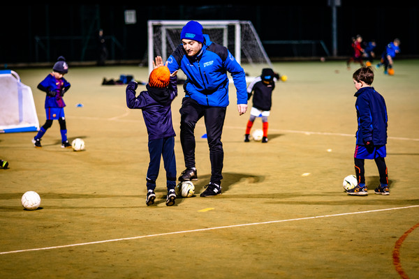 Childrens football training in Leeds