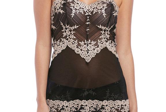 Wacoal Embrace Lace Black Chemise WA814191BLK