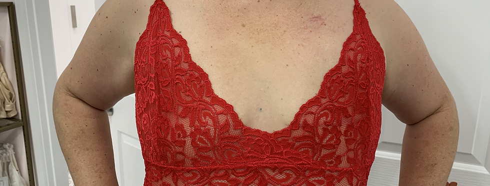 Lace Cami Red (no pockets)
