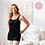 Thumbnail: Amoena Valletta Tall Mastectomy Singlet -Black 71426 (extra length)