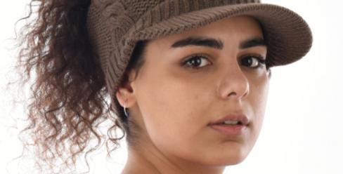 Knit Twist Visor w/wide headband