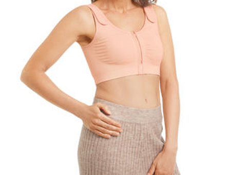 Amoena Leyla Seamless Non Underwire Pocketed Post Surgical Bra -Rose 44604