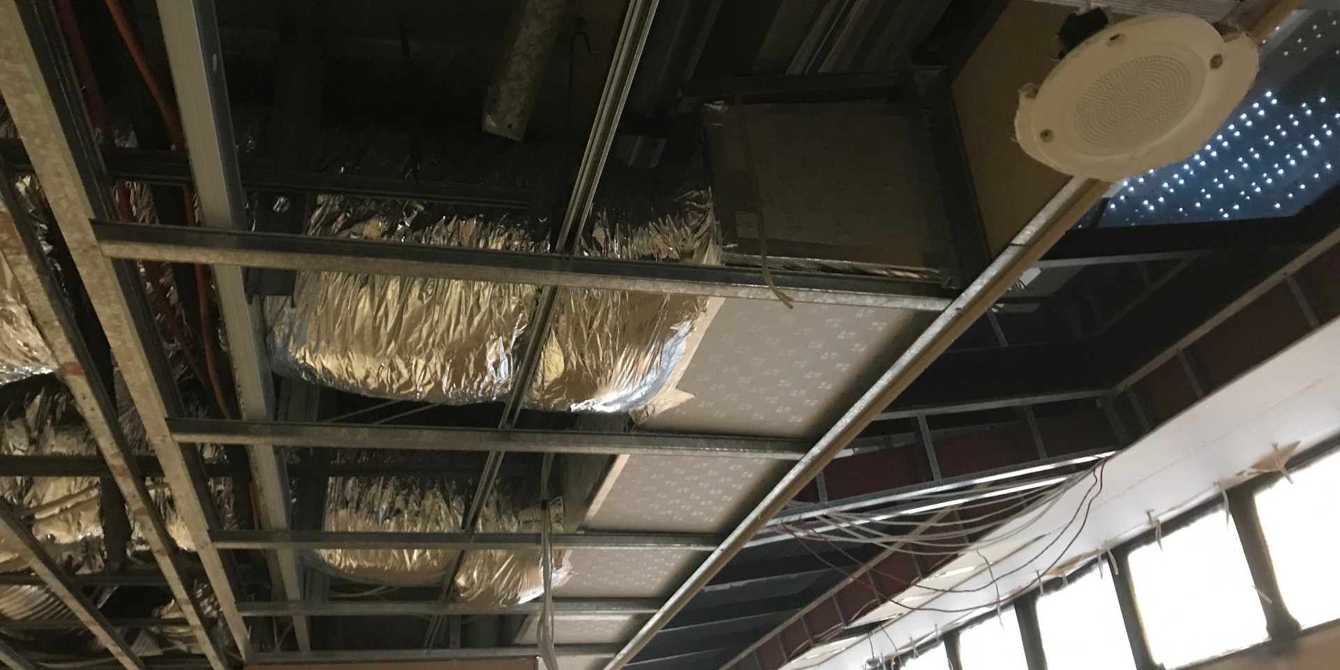 Ductwork at Gold Finch Restaurant