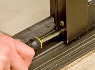 roller and track repair to sliding door