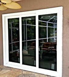 Sliding door high impact glass