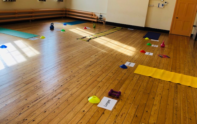 Postnatal Class Set Up and Ready