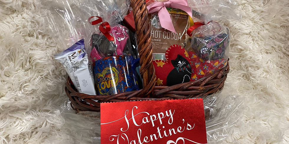 Sweets and Treats Valentines Day Basket Raffle