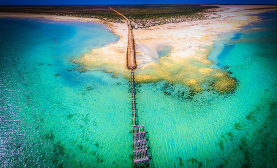 Aerial view of Gladstone jetty