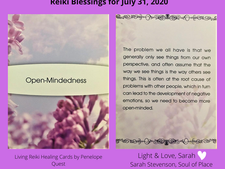 Reiki Blessings: July 31, 2020