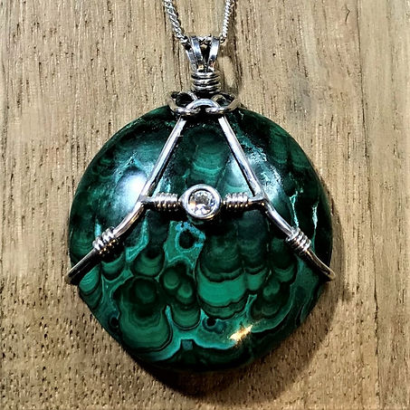 Malachite Crystal Pendant