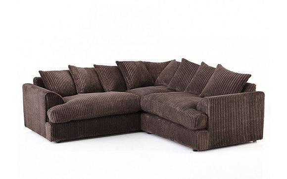 Ferguson Corner Sofa In Chocolate