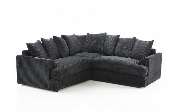 Ferguson Corner Sofa In Black