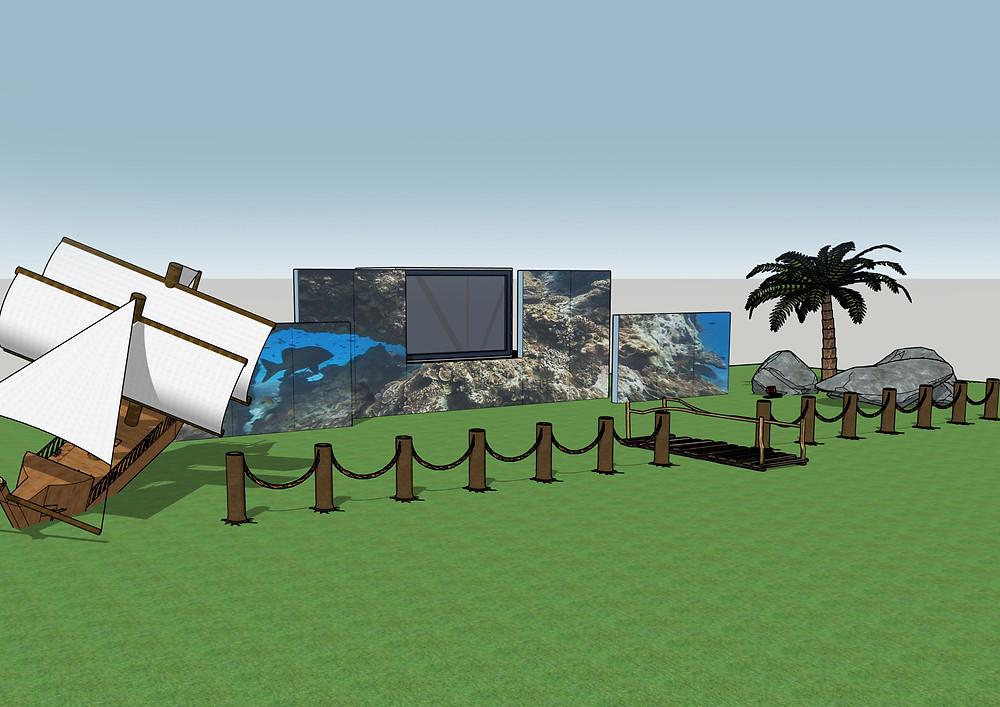 PIrate themed mermaid tank digital mock up