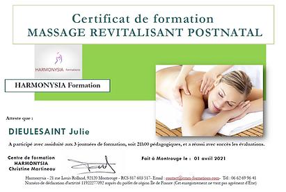 Certificat_Massage_postnatal_DIEULESAINT