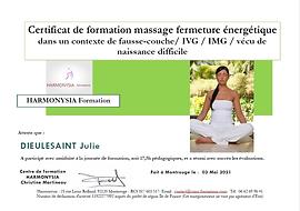 Certificat massage de fermeture energeti