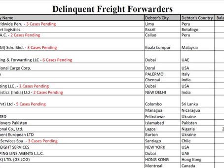 Debtors & delinquent forwarders