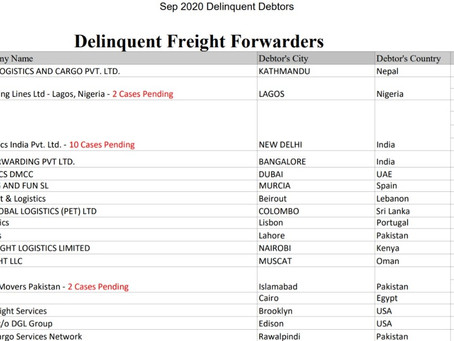 Delinquent Freight Forwarders &  Consignee