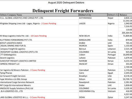 Delinquent freight forwarders