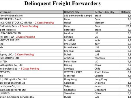 Debtors & delinquent forwarders Jun 20