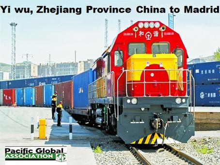 Rail freight Yiwu to Madrid