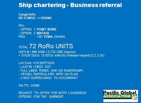 Chartering 72 RORO units
