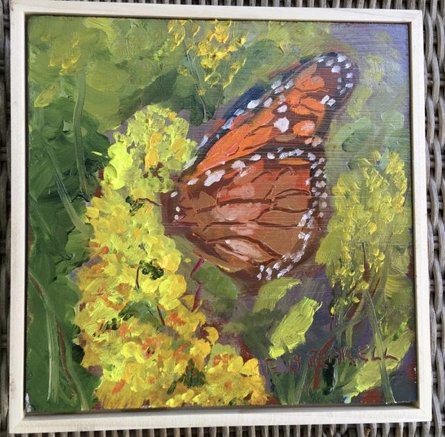 Monarch on Goldenrod 2