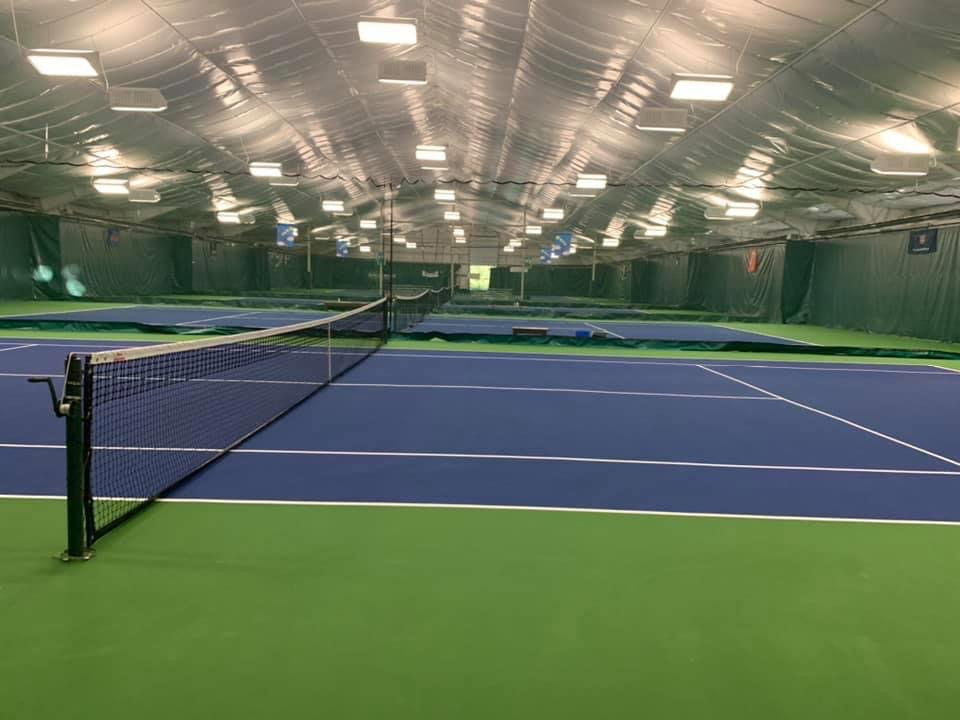 Indoor blue courts