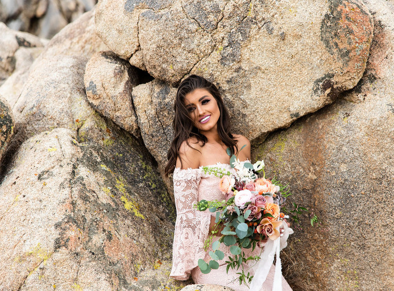 boho desert wedding rentals