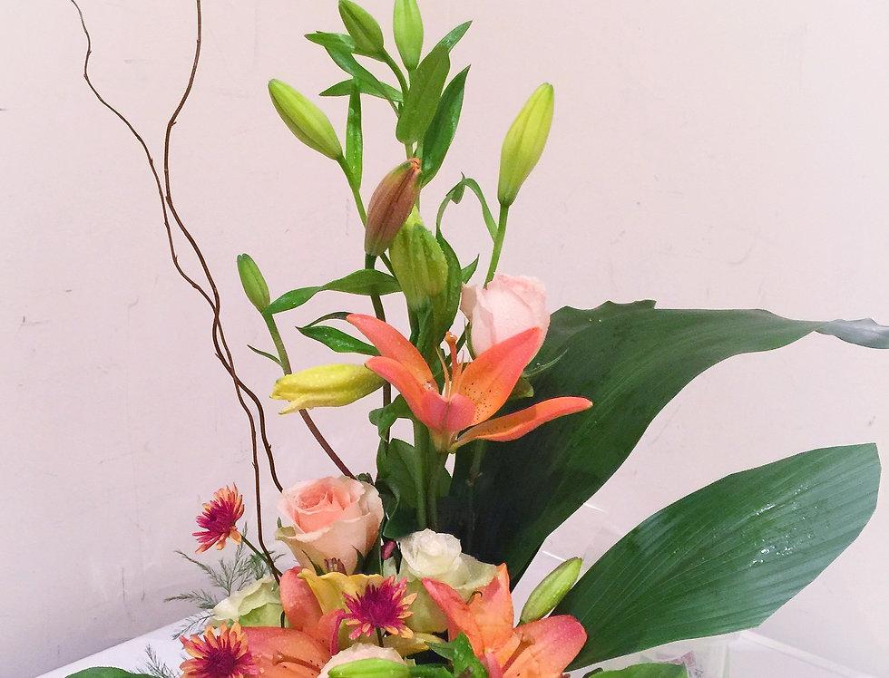 Bloom in Orange Centerpiece