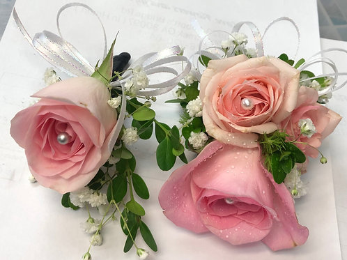 Light Pink Rose Corsage/Boutonniere