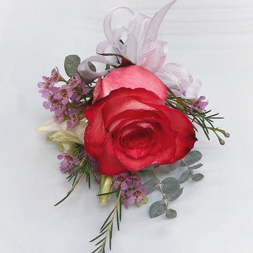 Red Orange Rose Corsage/Boutonniere