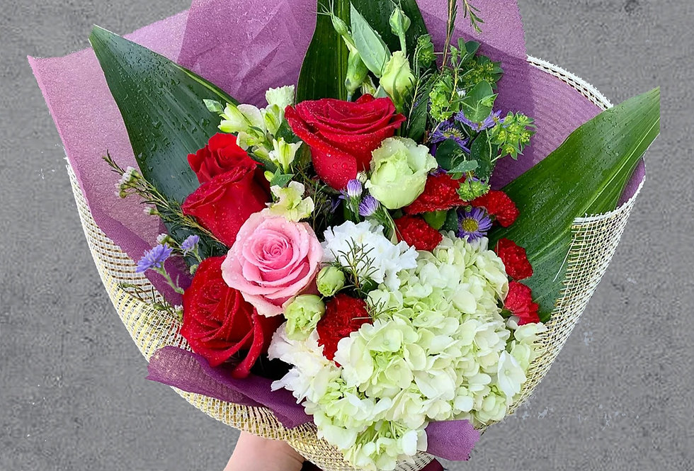 Dubonnet Hand-tied Bouquet