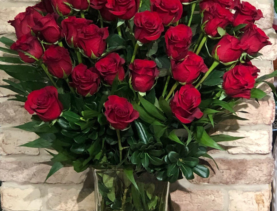 36 Long-Stemmed Red Roses