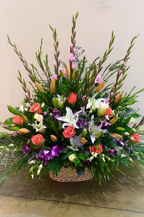 Funeral Basket Arrangement (Medium)
